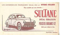 Buvard SULTANE / Spécial Terrazolith Polisseur Brillance 82 / Collection ASTRAL-CELLUCO / Automobile Peugeot 203 - Produits Ménagers