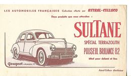 Buvard SULTANE / Spécial Terrazolith Polisseur Brillance 82 / Collection ASTRAL-CELLUCO / Automobile Peugeot 203 - Wash & Clean