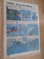 CLI718 :  RECIT COMPLET Tiré De Revue TINTIN DES ANNEES 60/70 : 9 Pages TINTIN ET LE LAC AUX REQUINS - Tintin