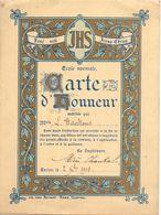 Erekaart Carte D'honneur - école Eecloo School Eeklo - Louise Wackens - 1908 - Announcements