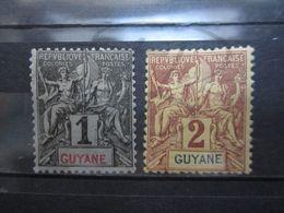 VEND BEAUX TIMBRES DE GUYANE N° 30 + 31 , X !!! - French Guiana (1886-1949)