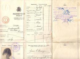 Passeport Reispas - Louise Wackens - Gent 1924 - Old Paper