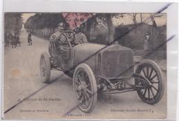 Circuit De La Sarthe (72) Descente De Bouloire.Villemain (Equipe Bayard-C) N° 4 /Voiture Trés Ancienne. - Bouloire