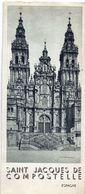 Brochure Dépliant Faltblatt Toerisme Tourisme - Saint Jacques De Compostelle  Espagne - Dépliants Touristiques