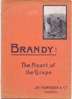 Pub Reclame - JA S HENNESSY & Cie - Cognac - Brandy - The Heart Of The Grape - 1907 - Publicités