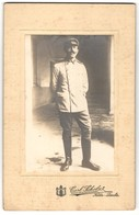 Fotografie Carl Scholz, Köln-Deutz, Portrait Soldat In Uniform - Personnes Anonymes