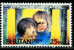 SA0571 Bhutan 1991 Two German Unified Children 1V MNH - Bhoutan