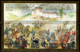 SA0574 Bhutan 1994 Against Mongolia's Aggressive War S/S MNH - Bhutan
