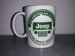 TASSE Ceramique MUG COFFEE WW2 4x4 JEEP WILLYS MILITARIA AMERICAN LEGEND CALANDRE Vert - Vehicles