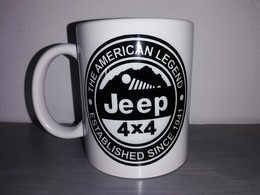 TASSE Ceramique MUG COFFEE WW2 4x4 JEEP WILLYS MILITARIA AMERICAN LEGEND Noir - Vehicles