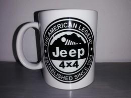 TASSE Ceramique MUG COFFEE WW2 4x4 JEEP WILLYS MILITARIA AMERICAN LEGEND Noir - Véhicules