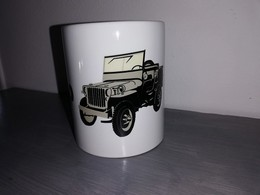 TASSE Ceramique MUG COFFEE WW2 4x4 JEEP WILLYS MILITARIA Dessin + Logo Lettrage - Vehicles