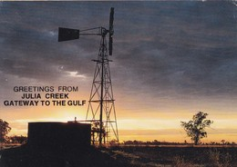 Postcard Greetings From Julia Creek Gateway To The Gulf Sunset In The Outback My Ref  B22781 - Far North Queensland