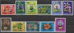 1965 SIERRA LEONE 286-91+ PA  36-40 ** Fleurs, Surchargés Churchill, Margai - Sierra Leone (1961-...)