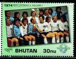 SA0584 Bhutan 1990 World Cup History 74 Years West Germany Final 1V MNH - Bhoutan