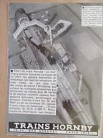 (1933) Publicité Jouet Petit Train électrique Hornby - Coupure De Presse Originale (Encart Photo) - Publicités