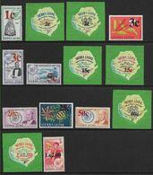 1965 SIERRA LEONE 272-85 ** Fleurs, Kennedy, Trompette, Masque, Surchargés - Sierra Leone (1961-...)