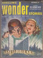 C1  THRILLING WONDER STORIES 12 1952 SF Pulp Walter POPP Jones HAMILTON - Science Fiction