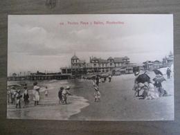 Tarjeta Postal - Uruguay Uruguaya Montevideo - Pocitos Playa Y Banos - 339 Editor : A. Carluccio Montevideo - Uruguay