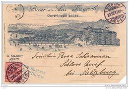 ZURICH:  BAUR  AU  LAC  -  PETITE  DECHIRURE  -  POUR  L' AUTRICHE  -  FP - Hoteles & Restaurantes
