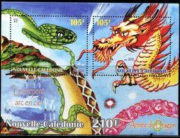 AR0477 New Caledonia 2000 Year Of The Dragon Zodiac S/S MNH - Postzegels