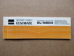 Manuel D'utilisation / Sharp Compet, Electronic Calculator  EL-5804 - Old Paper
