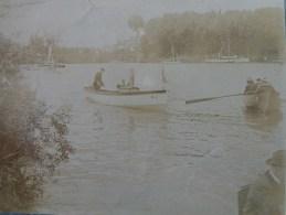 LES ANDELYS BARQUE PETIT BATEAU A VAPEUR  PHOTO ORIGINALE  1899 - Bateaux