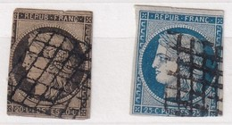 FRANCE YT N° 3 + 4   3ième CHOIX - 1849-1850 Cérès