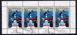 SLOVENIA 1994 Ski Jump Championships With Marginal Inscription  Postally Used Sheetlet.  Michel 78 Kb II - Slovenia