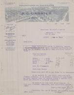 60 430 MOUY OISE 1929 Manufacture Chaussures A. C. GARNIER Marque ALCYON Depot FANCHON Usine A TESSOUALLE Tennis - France