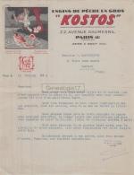 60 433 MOUY OISE Et PARIS SEINE 1938 Engins De Peche KOSTOS Dest CAMBOULIVES De CARMAUX - France