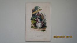 GUADELOUPE / UNE PETITE CREOLE / COSTUMES DU MONDE / GRAVURE 19ème. - Estampes & Gravures