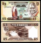 Zambia - 5 Kwacha 1980 - 88 UNC - Zambie