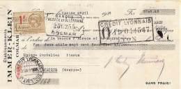 68 569 COLMAR HAUT RHIN 1926 Ets IMMER - KLEIN  A PORTALIER Tissus De SAINT AFFRIQUE - Bills Of Exchange