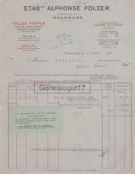 68 643 MULHOUSE HAUT RHIN 1930 Colles Fortes ALPHONSE FOLZER USINE A ILE NAPOLEON Et VALLIERES Les  METZ - France
