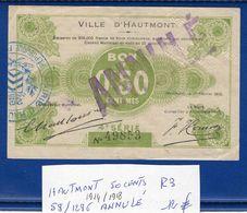 Hautmont  1914/1918   59/1296   R3  Annulé   50  Cts   Neuf - Bonds & Basic Needs