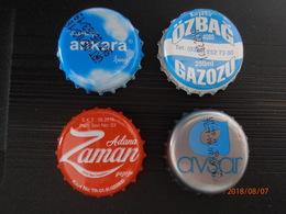 4 Different Capsules From Turkey Turquie Adana Ankara Kirsehir And Avsar - Soda