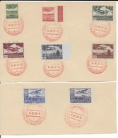 TCHECOSLOVAQUIE/BOHEME ET MORAVIE - 17/18 MARS 1939 - POSTE AERIENNE YVERT 10/17 OBLITERES VISITE Du FÜHRER SUR FRAGMENT - Tschechoslowakei/CSSR