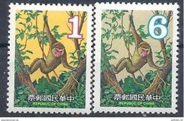 1979 FORMOSE- TAIWAN 1263-64 ** Astrologie Chinoise, Année Du Singe - 1945-... République De Chine