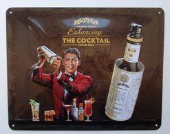 - Plaque Publicitaire En Tôle. ANGOSTURA - THE COCKTAIL - - Plaques En Tôle (après 1960)