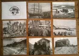 Lot De 8 Cartes Postales NORDENSKJOLD ANTARCTIC EXPEDITION - Missions