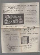 Sannois (95) Prospectus HAUGUET ET GAHYDE  Auges, Rateliers, Cuves Etc   (PPP9066) - Publicités