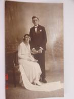 C.P.A.- Carte Photo - Mariage De Georges Malécot Et Marthe Boisteay - 1929 - SUP (AM 54) - Noces