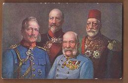 AC  -  GERMAN & AUSTRIAN EMPEROR, TZAR OF BULGARIA, SULTAN MEHMED RESAD V POST CARD CARTE POSTALE - Turkey