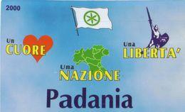 4697 SCHEDA TESSERA CARTONCINO SOSTENITORE PENSIONATO LEGA NORD PADANIA - Manifesti