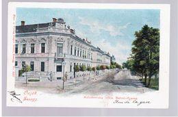 CROATIA Osijek Essegg Bahnhofgasse 1902 OLD POSTCARD 2 Scans - Croatia