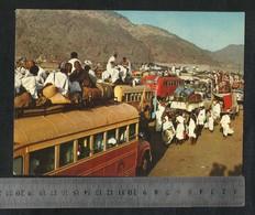 Saudi Arabia People's Journey From Mina To Arfat To Pray Their Hajj Ceremony Islamic Picture Postcard View Card - Saudi Arabia