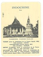 Carte Indochine, Asie, Cambodge, Pagode Oualon - Géographie