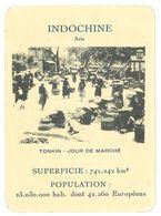 Carte Indochine, Asie, Tonkin, Jour De Marché - Géographie