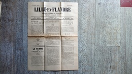 Journal Lille En Flandre Oct 1928 Organe Politique Littéraire Fleur De Lys Armes De La Ville Valentin Bresle - Picardie - Nord-Pas-de-Calais